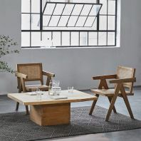 WOODEN DINING CHAIR CHANDIGARH (WITH RATTAN NETTING)