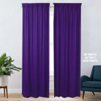 1 SET CURTAIN INTERLOCK BR DARK PURPLE (60''X85'') (2PCS)