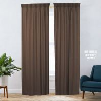1 SET CURTAIN INTERLOCK BR COFFEE (60''X85'') (2PCS)