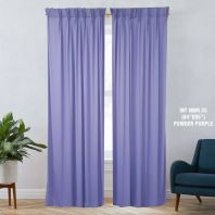 1 SET CURTAIN INTERLOCK BR POWDER PURPLE (60''X85'') (2PCS)