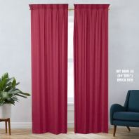 1 SET CURTAIN INTERLOCK BR BRICK RED (60''X85'') (2PCS)