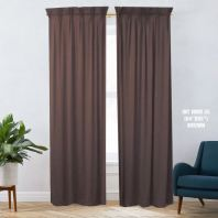 1 SET CURTAIN INTERLOCK BR BROWN (60''X85'') (2PCS)