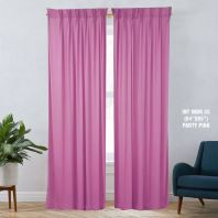 1 SET CURTAIN INTERLOCK BR PARTY PINK (60''X85'') (2PCS)