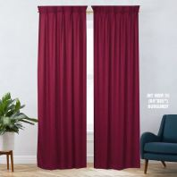 1 SET CURTAIN INTERLOCK BR BURGUNDY (60''X85'') (2PCS)