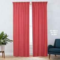 1 SET CURTAIN INTERLOCK BR SALMON (60''X85'') (2PCS)