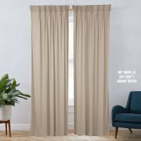 1 SET CURTAIN INTERLOCK BR GRANT BEIGE (60''X85'') (2PCS)