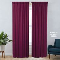 1 SET CURTAIN INTERLOCK BR MAROON (60''X85'') (2PCS)