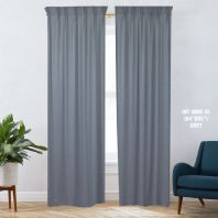 1 SET CURTAIN INTERLOCK BR GREY (60''X85'') (2PCS)