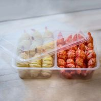 2 Compartments Container