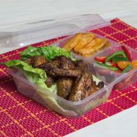 3 Compartments Container