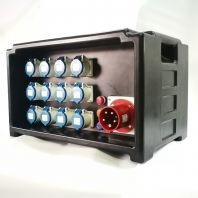 63 Amp Distribution Box (Black Color )Box Type