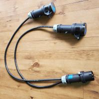 Mennekes 16A3P Male To Female Cable Splitter
