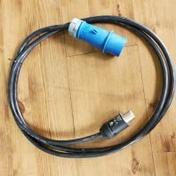 Mennekes 16A3P Male To Neutrik 32A Powercon With 2.5mm TRS Cable
