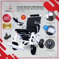 Electric Wheelchair Aluminium Alloy Bluetooth Radio Easy Travel