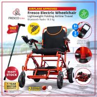 Fresco Electric Wheelchair Lightweight Aluminum Motorized Wheelchair