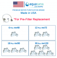 AQUASANA DVPI Pre-Filter Replacement Filter 6 Pcs
