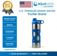 AQUASANA Stainless Steel Insulated Clean Filter Bottle 500ML