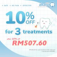10% off for 3 treatments