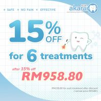 15% off for 6 treatments