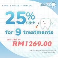 25% off for 9 treatments