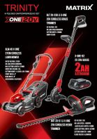 20v MATRIX LAWN MOWER 3 IN 1 SET