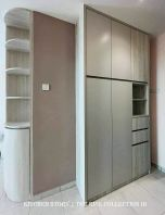 Laminato Series Curve Display Cabinet