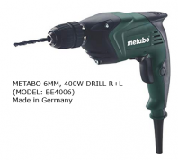 METABO 6MM, 400W DRILL R+L, BE4006