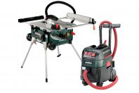 METABO TABLE SAW TS 254 AND VACUUM CLEANER ASR35M-ACP