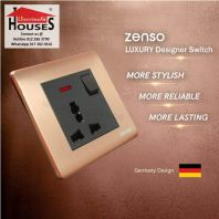 Zenso - Metallo Series 13A Universal Switched Socket Outlet - Aluminium Gold S3089-G