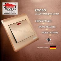 Zenso - Metallo Series 20A Water Heater AirCon Switch - Aluminium Gold S2020-G
