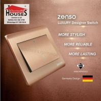 Zenso - Metallo Series Doorbell Switch - Aluminium Gold S1011FD-G