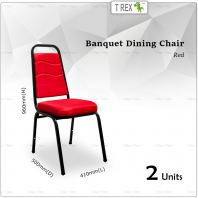 2 Units 3V High Quality Banquet Chair Dining Chair (Red)