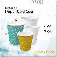 50pcs Disposable Cold Paper Cup