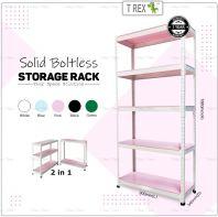 T Rex Solid 5 Tier Steel Boltless Storage Rack Display Rack (Pink)