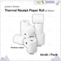 [10 FREE 1] 57mm x 80mm High Quality Thermal Receipt Paper Roll