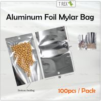 100pcs Aluminum Foil Mylar Bag / Semi Metalized Bag with Bottom Sealing