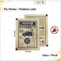 10pcs Fly Sticker / Pelekat Lalat