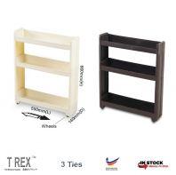 Felton 3 Tier Slide Out Kitchen Storage Rack / Bathroom Rack