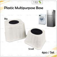 4pcs Plastic Fridge Base / Washing Machine Base / Foot Base