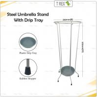 Steel Umbrella Storage Stand with Drip Tray