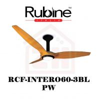RUBINE Ceiling Fan RCF-INTERO60-3BL