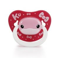 KUKU DUCKBILL Thumb Shape Orthodontic Pacifier 6 month+ PINK (KU5513)