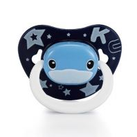 KUKU DUCKBILL Thumb Shape Orthodontic Pacifier 6 month+ BLUE (KU5513)