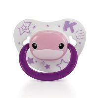 KUKU DUCKBILL Thumb Shape Orthodontic Pacifier 0-6 month PINK (KU5512)