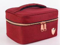 PRINCETON SINGLE LYR COOLER BAG-MAROON WITH  ROSE GOLD