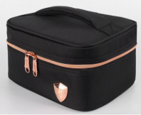 PRINCETON SINGLE LYR COOLER BAG-BLACK WITH  ROSE GOLD