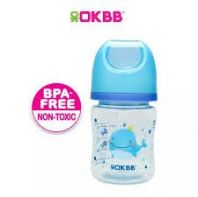 B-117 OKBB 4OZ WIDE NECK FEEDING BOTTLE WHALE