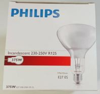 Philips 375W R125 Infrared Lamp Clear