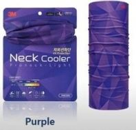 3M Neck Cooler (Purple) Sun Protector High UV Protection Muffler Scarf