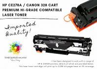 PREMIUM HI-GRADE CANON 328 CART  / HP 278A COMPATIBLE LASER TONER